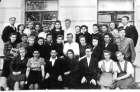 Фотография студентов 1-го курса физмата пединститута. Хабаровск, 1948