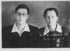 А.Ф. Рар с матерью Татьяной Карловной. Хабаровск, 1951