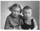 Дети А.Ф. Рара – Вера и Андрей. Новосибирск, 1966